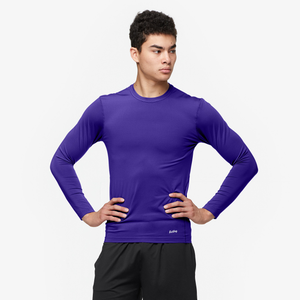Eastbay EVAPOR Long Sleeve Compression Crew - Men's - Purple