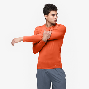Eastbay EVAPOR Long Sleeve Compression Crew - Men's - Orange