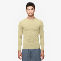 Eastbay EVAPOR Long Sleeve Compression Crew - Men's - Tan / Tan