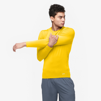 Eastbay EVAPOR Long Sleeve Compression Crew - Men's - Gold / Gold