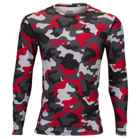 Eastbay EVAPOR Long Sleeve Compression Crew - Men's - Red / Black