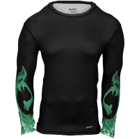 Eastbay EVAPOR L/S Compression Printed Crew - Men's - Black / Green