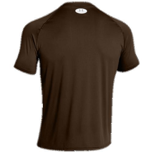 Under armour team locker shortsleeve t shirt men 39 s for Under armour brown t shirt