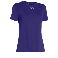 Under Armour Team Locker Short Sleeve T-Shirt - Women's - Purple / Purple