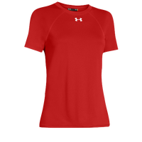 Under Armour Team Locker Short Sleeve T-Shirt - Women's - Red / Red