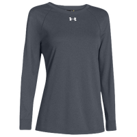 Under Armour Team Locker Long Sleeve T-Shirt - Women's - Grey / Grey