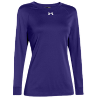 Under Armour Team Locker Long Sleeve T-Shirt - Women's - Purple / Purple