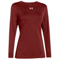Under Armour Team Locker Long Sleeve T-Shirt - Women's - Red / Red