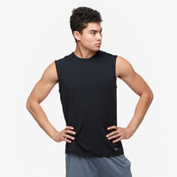 Eastbay EVAPOR Fitted Sleeveless Crew - Men's - All Black / Black