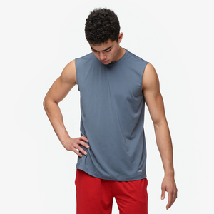 Eastbay EVAPOR Fitted Sleeveless Crew - Men's - Charcoal Heather