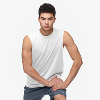 Eastbay EVAPOR Fitted Sleeveless Crew - Men's - All White / White