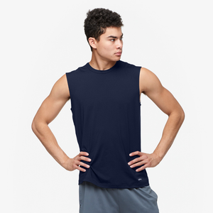 Eastbay EVAPOR Fitted Sleeveless Crew - Men's - Navy