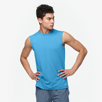 Eastbay EVAPOR Fitted Sleeveless Crew - Men's - Light Blue / Light Blue