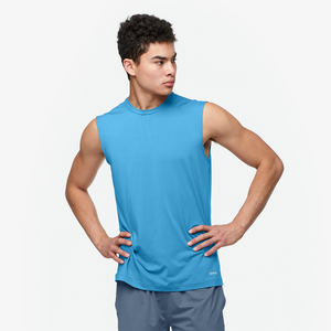 Eastbay EVAPOR Fitted Sleeveless Crew - Men's - Columbia Blue