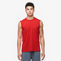 Eastbay EVAPOR Fitted Sleeveless Crew - Men's - Red-Scarlet