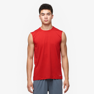 Eastbay EVAPOR Fitted Sleeveless Crew - Men's - Scarlet