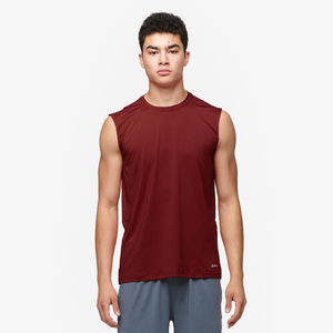 Eastbay EVAPOR Fitted Sleeveless Crew - Men's - Cardinal