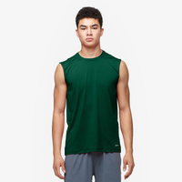 Eastbay EVAPOR Fitted Sleeveless Crew - Men's - Dark Green / Dark Green