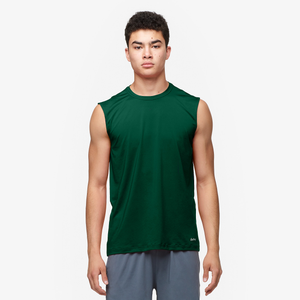 Eastbay EVAPOR Fitted Sleeveless Crew - Men's - Forest