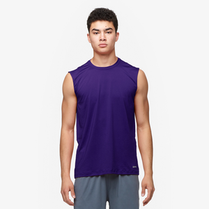 Eastbay EVAPOR Fitted Sleeveless Crew - Men's - Purple