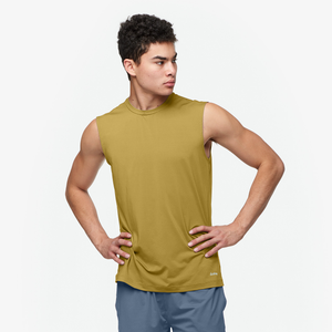 Eastbay EVAPOR Fitted Sleeveless Crew - Men's - Vegas Gold