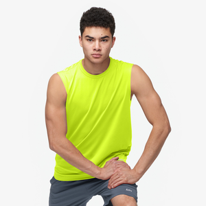 Eastbay EVAPOR Fitted Sleeveless Crew - Men's - Fierce Yellow