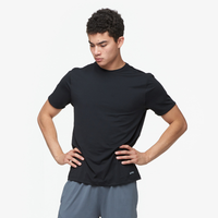 Eastbay EVAPOR Fitted Crew - Men's - All Black / Black