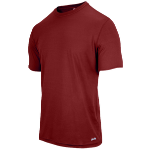 Eastbay EVAPOR Fitted Crew T-Shirt - Men's - Cardinal