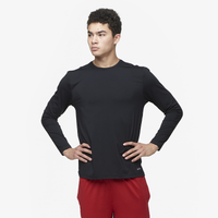 Eastbay EVAPOR Fitted Long Sleeve Crew - Men's - All Black / Black
