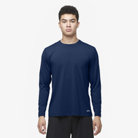 Eastbay EVAPOR Fitted Long Sleeve Crew - Men's - Navy / Navy