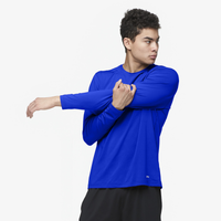Eastbay EVAPOR Fitted Long Sleeve Crew - Men's - Blue / Blue