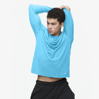 Eastbay EVAPOR Fitted Long Sleeve Crew T-Shirt - Men's - Light Blue / Light Blue