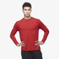 Eastbay EVAPOR Fitted Long Sleeve Crew - Men's - Red / Red