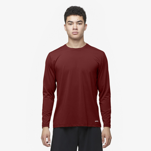 Eastbay EVAPOR Fitted Long Sleeve Crew - Men's - Red-Cardinal