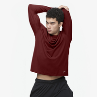 Eastbay EVAPOR Performance Training L/S T-Shirt - Men's - Maroon / Maroon