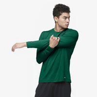 Eastbay EVAPOR Fitted Long Sleeve Crew - Men's - Dark Green / Dark Green