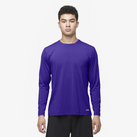 Eastbay EVAPOR Fitted Long Sleeve Crew - Men's - Purple / Purple
