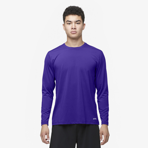 Eastbay EVAPOR Fitted Long Sleeve Crew T-Shirt - Men's - Purple