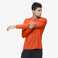 Eastbay EVAPOR Fitted Long Sleeve Crew T-Shirt - Men's - Orange / Orange
