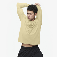 Eastbay EVAPOR Fitted Long Sleeve Crew - Men's - Tan / Tan