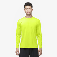 Eastbay EVAPOR Fitted Long Sleeve Crew - Men's - Yellow / Yellow