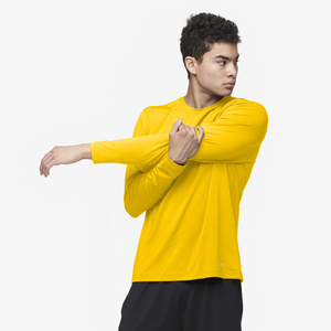 Eastbay EVAPOR Fitted Long Sleeve Crew - Men's - Gold
