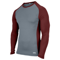 Eastbay EVAPOR Baseball Compression Top - Men's - Grey / Maroon