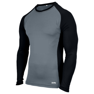 Eastbay EVAPOR Baseball Compression Top - Men's - Grey/Black