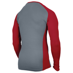 Eastbay EVAPOR Baseball Compression Top - Men's - Grey/Scarlet