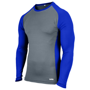 Eastbay EVAPOR Baseball Compression Top - Men's - Grey/Royal