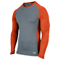 Eastbay EVAPOR Baseball Compression Top - Men's - Grey / Orange