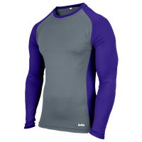 Eastbay EVAPOR Baseball Compression Top - Men's - Grey / Purple