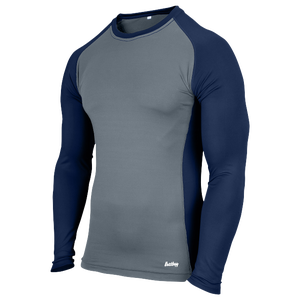Eastbay EVAPOR Baseball Compression Top - Men's - Grey/Navy