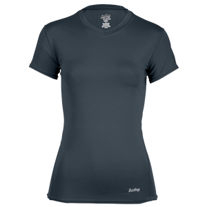 Eastbay EVAPOR Short Sleeve Compression Top - Women's - Charcoal
